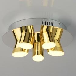 Ultranowoczesna, industrialna lampa sufitowa led chromowano-złota 609013505