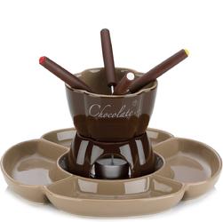 Ceramiczny zestaw do fondue czekoladowego Fiore Kela 0,25 Litra KE-12423