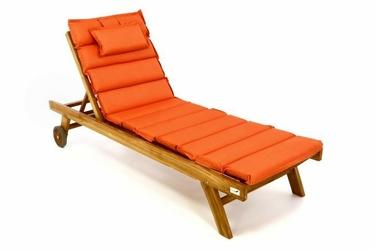 Leżak ogrodowy pomarańczowy divero