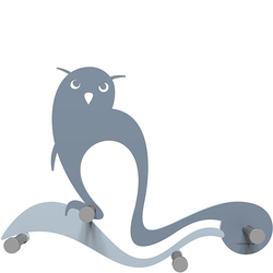 Wieszak ścienny Owl CalleaDesign niebieski 13-007-44