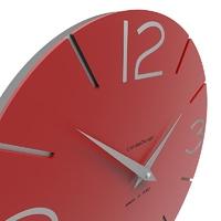 Zegar ścienny smile calleadesign szara śliwka 10-005-34