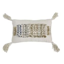 Hkliving poduszka wabi sabi z frędzlami wykonana z bawełny 70x40 tku2046