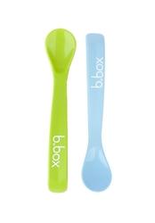 Łyżeczki silikonowe b.box - zielono - niebieskie