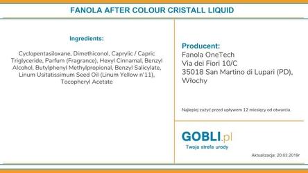 Fanola after color płynne kryształki do włosów farbowanych 100ml