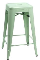 Stołek barowy paris 66cm inspirowany tolix - zielony