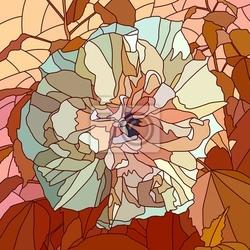 Naklejka ilustracja wektora kwiatu hibiskusa chinese rose.