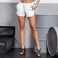 Spodenki krótkie damskie labellamafia shorts white