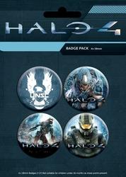 Halo 4 Master Chief - zestaw 4 przypinek