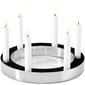 Świecznik okrągły na sześć świec ring philippi 30 cm p133005