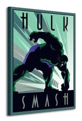 Marvel deco hulk - obraz na płótnie