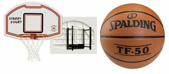 Zestaw Sure Shot 508 z uchwytem + piłka Spalding TF-50