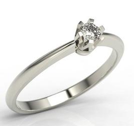 Pierścionek zaręczynowy z białego złota z brylantem jp-2508zb