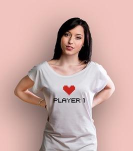 Player 1 ksz t-shirt damski biały xxl