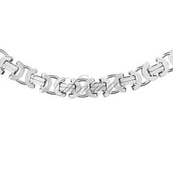 Łańcuszek ozdobny srebrny pr. 925 ø 0150 rodowany - 8,0 mm
