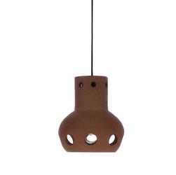 HK Living :: Lampa wisząca z terakoty numer 3 - 13x13x15
