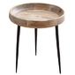 Stolik kawowy okrągły Gini naturalne drewno