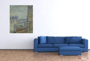 widok z mieszkania theo - vincent van gogh ; obraz - reprodukcja