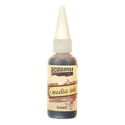 Tusz MediaInk 20 ml Pentart - brown - BROWN