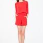 Czerwony stylowy i modny kombinezon na lato