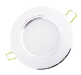 Oprawa sufitowa downlight led 5w - 3000k biały ciepły obudowa srebrna