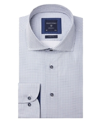 Biała koszula profuomo w ciekawy wzór slim fit 40