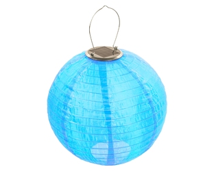 lampion solarny ogrodowy 30cm zewnętrzny niebieski, lampa solarna joylight