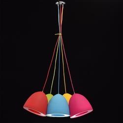 Kolorowa lampa wisząca 5 elementowa mw-light 646010905