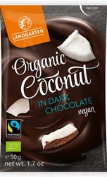 Landgarten | liofilizowany kokos w gorzkiej czekoladzie | gluten free - organic - fairtrade