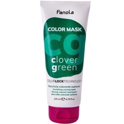 Fanola color mask - maska koloryzująca do włosów, różne kolory 200ml clover green