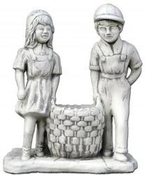 Wazon - donica kamienna z dziećmi