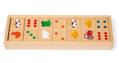 Domino drewniane farma janod
