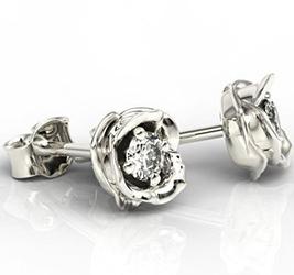 Kolczyki z białego złota z diamentami lpk-4221b - białe  diament