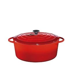 Kuchenprofi - provence - owalny garnek do zapiekania, 7,00 l, czerwony - czerwony