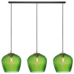 Kaspa :: lampa wisząca venus listwa 3 klosze czarno-zielona