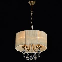 Lampa wisząca z beżowej organzy, ozdobne kryształy jacqueline mw-light elegance 465016504