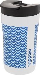 Kubek latte leak-lock białoniebieski