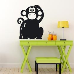 Naklejka tablicowa dla dzieci małpka 1tk95