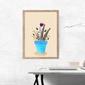 Kwiaty w doniczce - plakat wymiar do wyboru: 21x29,7 cm