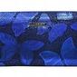 Portfel damski skórzany opalizujący niebieski lorenti