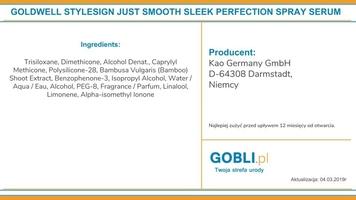 Goldwell sleek perfection, spray bezwodny, termoochronny, wygładza i chroni kolor 100ml