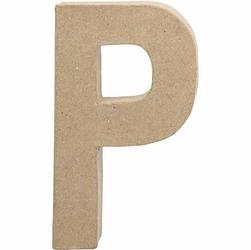 Litera z papier mache 20,5x2,5 cm - P - P