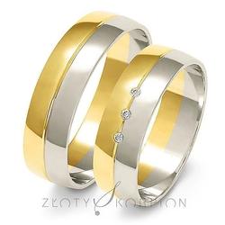 Obrączki ślubne dwukolorowe złoty skorpion – wzór au-a219