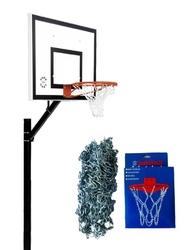 Zestaw kosz do koszykówki 502 sure shot home court + siatka do kosza łańcuchowa 405 sure shot metalowa