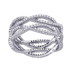 Staviori pierścionek. 220 diamentów, szlif brylantowy, masa 1,10 ct., barwa h, czystość si2. białe złoto 0,585. szerokość 12 mm.
