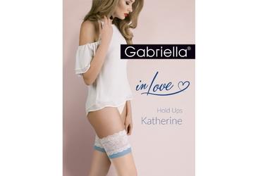 Katherine 473 plus size 56 gabriella pończochy z niebieskim akcentem