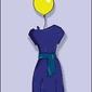Pani balonik - plakat wymiar do wyboru: 21x29,7 cm