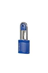 Niebieska kłódka zabezpieczająca na klucz - midnight blue
