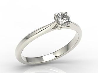 Pierścionek zaręczynowy z białego złota z brylantem ap-3530b - białe  diament