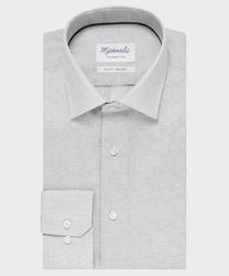 Elegancka szara koszula ze splotem oxford michaelis z kołnierzem klasycznym 41