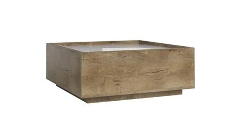Ława skandynawska biały połyskdąb - 80 x 50 cm - roma